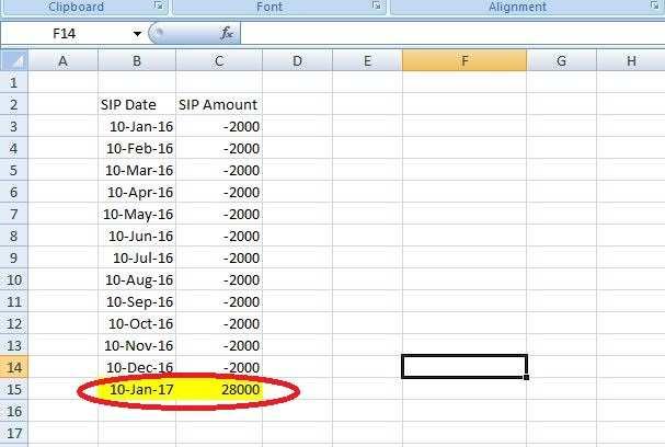 how to calculate mutual fund return