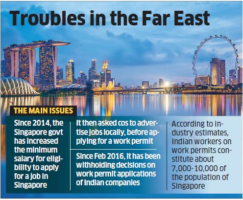Singapore blocks visas for Indian IT professionals