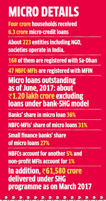 At A Pan India Level Micro Credit Reaches To Not More Than 20 Of The Total Households Through Variety Channels Including Banks And NBFC MFIs