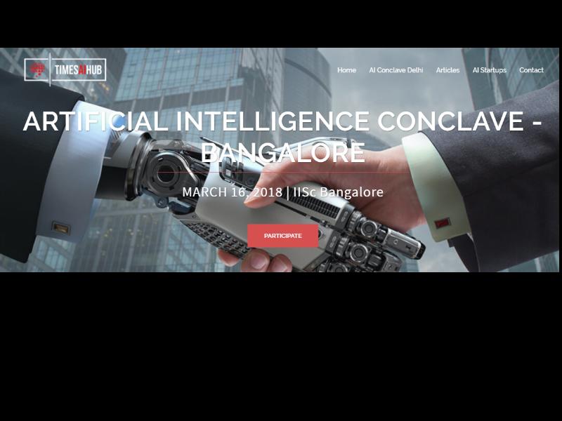 Times AI Hub announces 'AI 2018 & Beyond' event - The