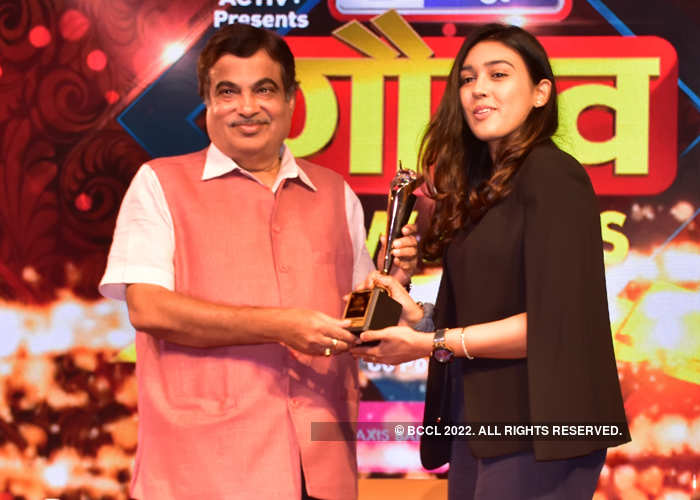 Princy Goyal, CEO of Kontor Space, felicitated with the youngest woman entrepreneur award by Union Minister Nitin Gadkari