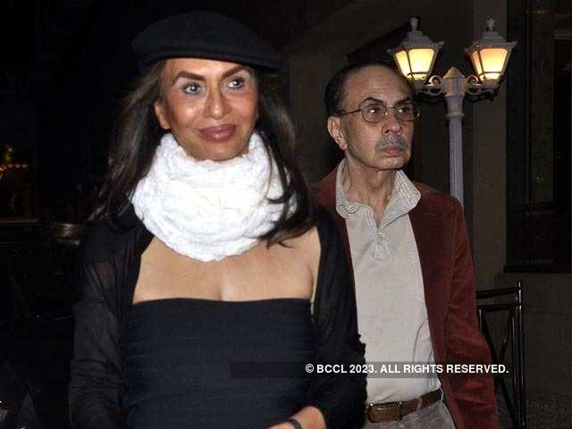 Parmeshwar with husband Adi Godrej