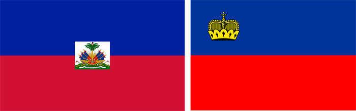 Haiti and Liechtenstein flag