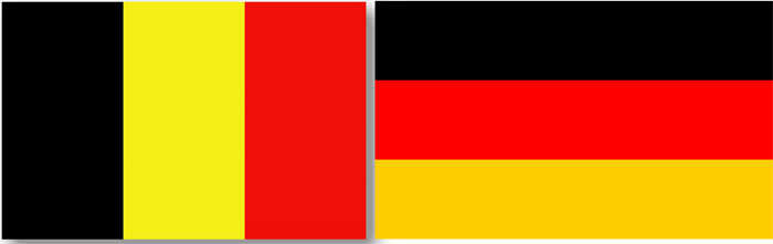 Belgium and Germany flag