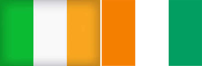 Ireland and Ivory Coast flag
