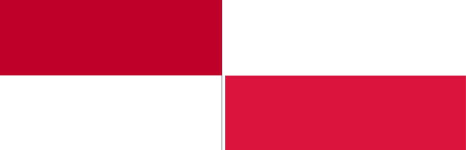 Indonesia and Poland flag