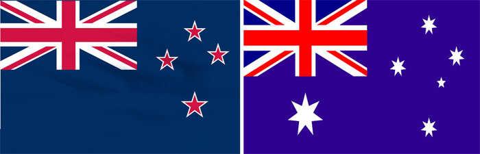 New Zealand and Australia flag