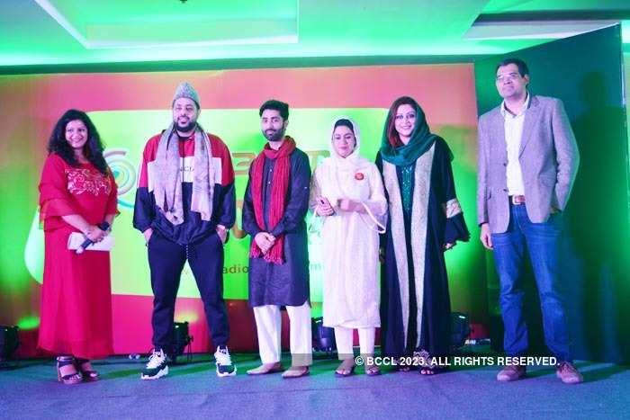 Badshah in Srinagar during the launch of Radio Mirchi 98.3FM.