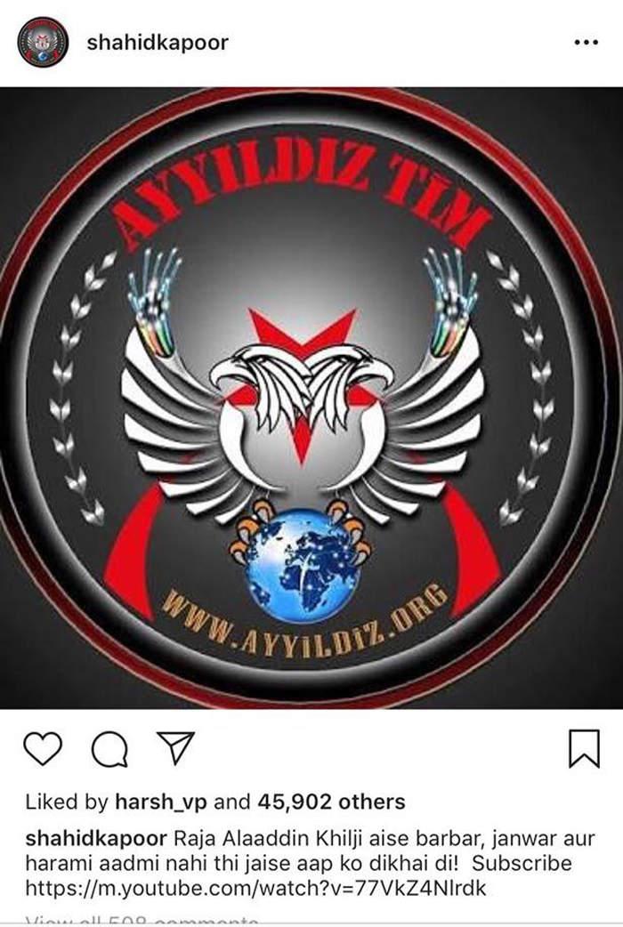 Screenshot of Shahid's hacked Instagram account