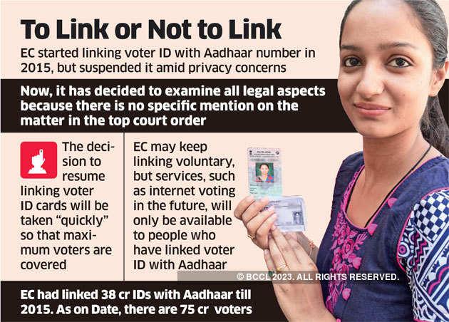 Aadhaar: Election Commission may resume seeding voter cards with Aadhaar  numbers