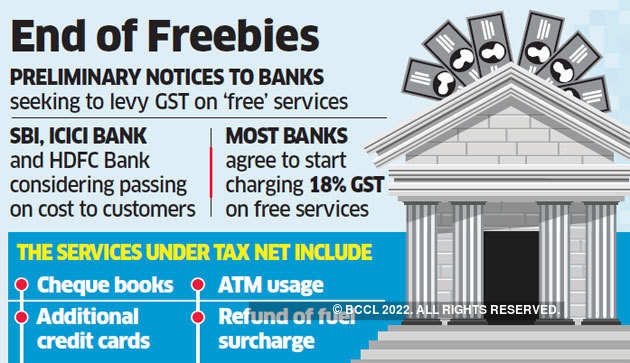 GST | Free services: GST on banks' 'free services' may be
