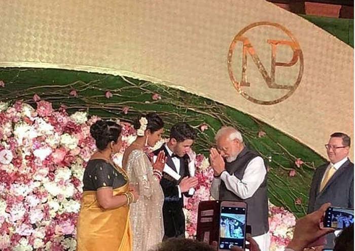 PM Modi attends Priyanka-Nick's dazzling Delhi reception, blesses them