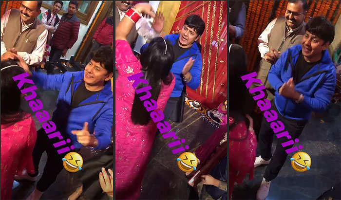 Sudesh Lehri dancing with Bharti SIngh