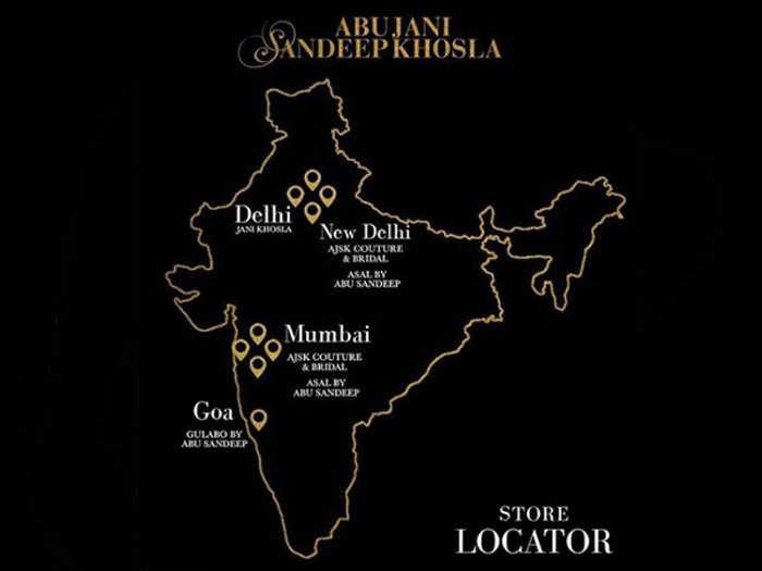 Abu Jani, Sandeep Khosla goof up, post incorrect map of India on Instagram