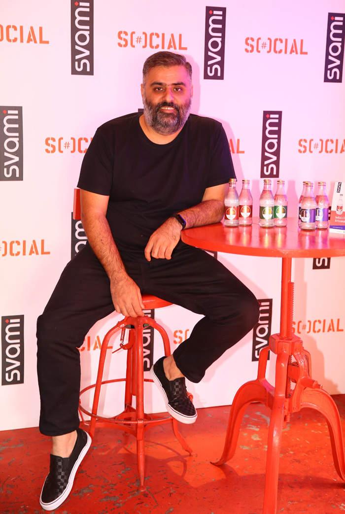 Sahil Jatana CEO and Co-Founder SVAMI at the Media launch of Svami Tonic water at Bangalore