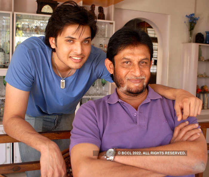 Sandip Patil and his son Chirag (L)