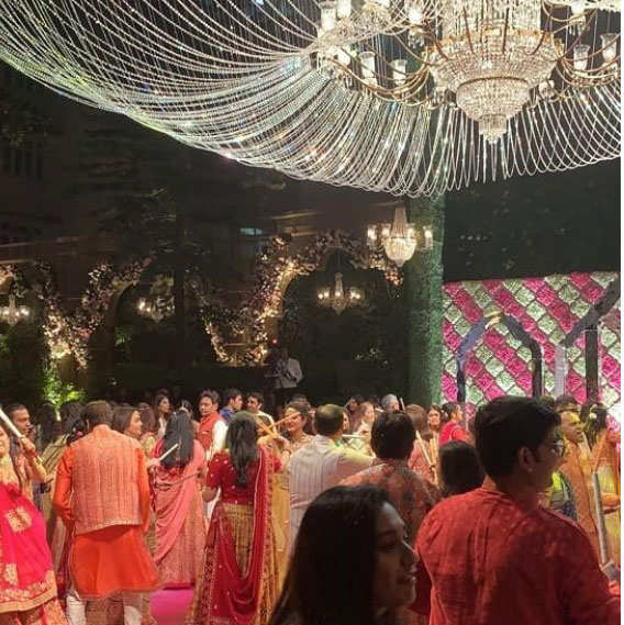 Akash-Shloka's pre-wedding celebrations kick off at Ambani residence, Falguni Pathak performs