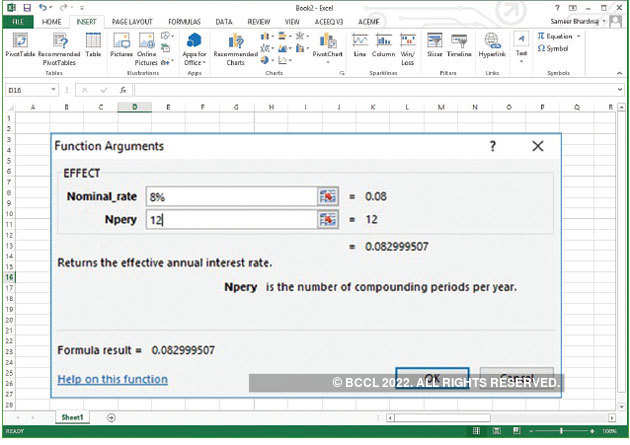 How To Calculate Interest Rate With Compounding Using Ms Excel