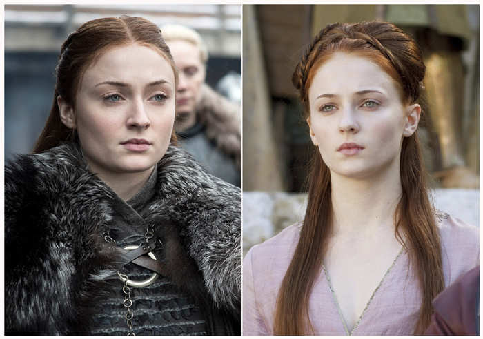 Sophie Turner played Sansa Stark in the show.