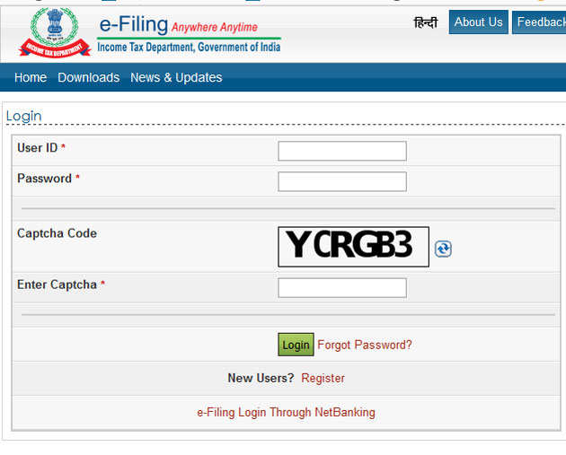 Itr Filing Pre Validate Your Bank