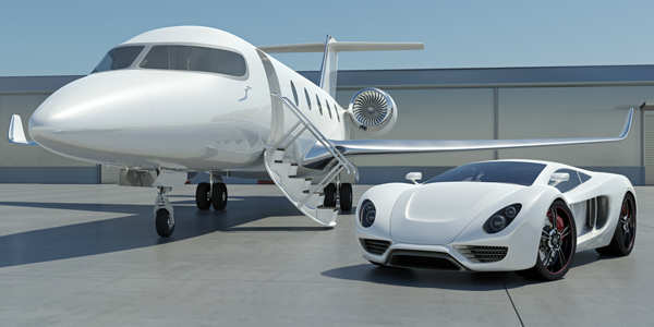 The rich typically own jets for convenience and privacy.