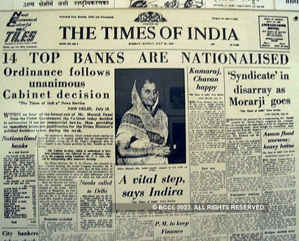 Indian Banks Nationalisation | Indira Gandhi's bank ...