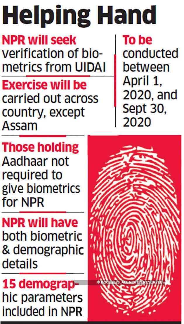 Npr Best Books 2020.Aadhaar Card National Population Register To Include