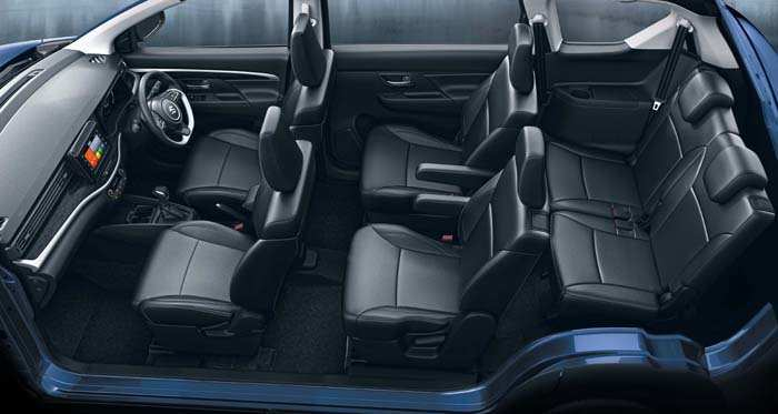 XL6 has all-black interiors.