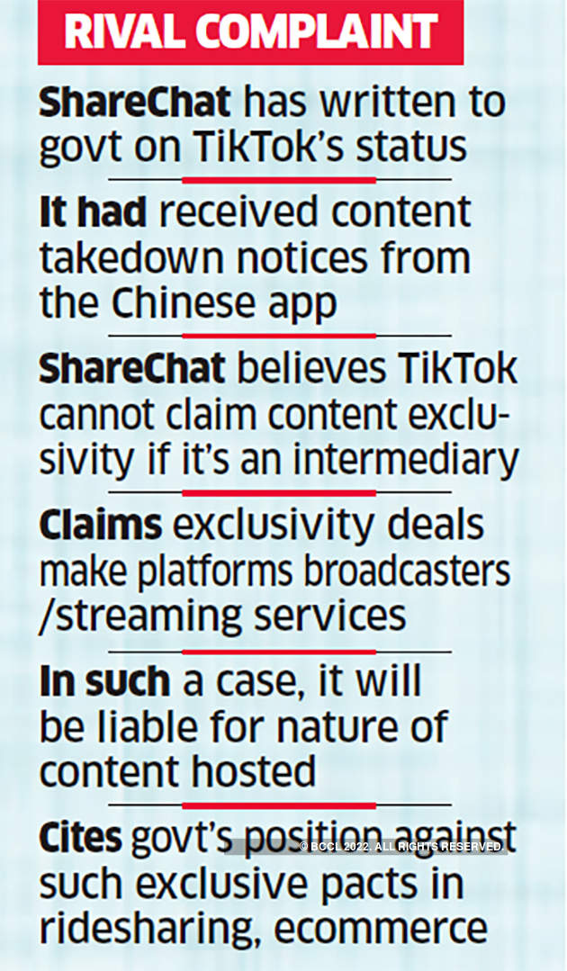 Government Notices An Issue In Tiktoks Sharechat Notices