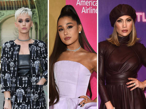 From left: Katy Perry raked in $57.5 mn, Ariana Grande earned $48 mn, and Jennifer Lopez was at $43 mn.