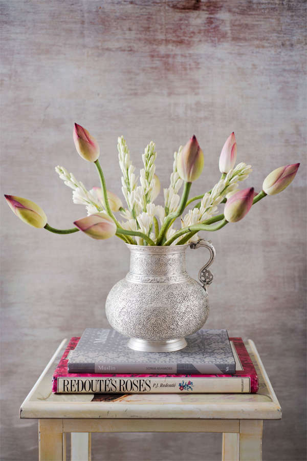 This silver-plated vase by Good Earth is inspired by a Persian jug, and a beautiful addition to any space. (Image: goodearth.in)​