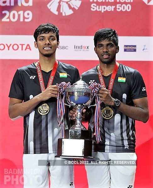 Chirag Shetty (L) and Satwiksairaj Rankireddy became the first men's doubles pair from India to win a BWF Super 500 title early last month.