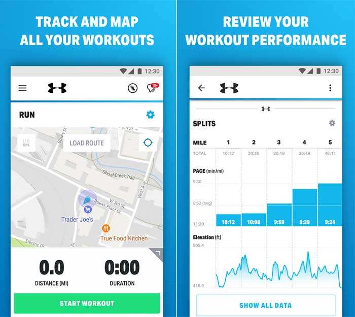Using your phone's GPS, Under Armour HOVR Phantom SE can also plot out your run on a map.