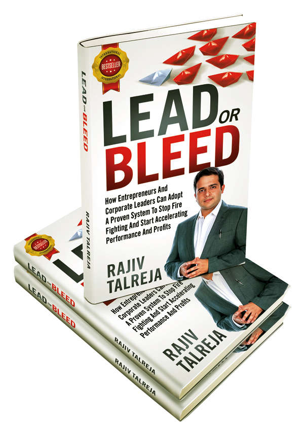 Talreja is the author of the international bestseller 'Lead or Bleed'.