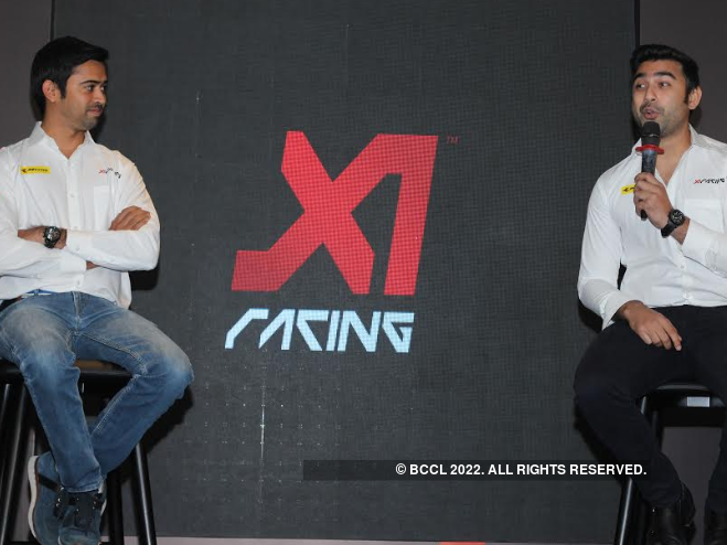 Aditya Patel (left) and Armaan Ebrahim (right) talk about X1 league and the owners of the various teams. (Image: BCCL)