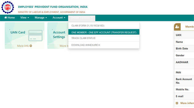 Epf Transfer Process Online How To