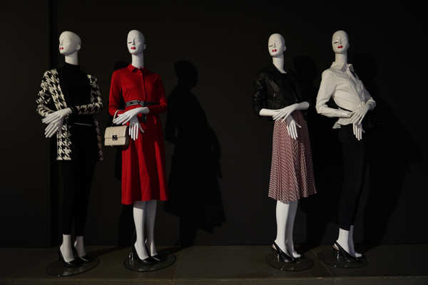 The collection features a lot of classic Karl black and white, with his favourite red, and a bit of pink.