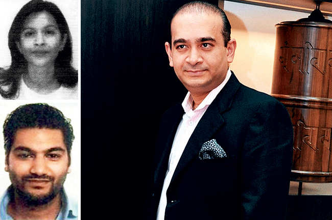 Nirav Modi, his sister Purvi Modi and associate Aditya Nanavati