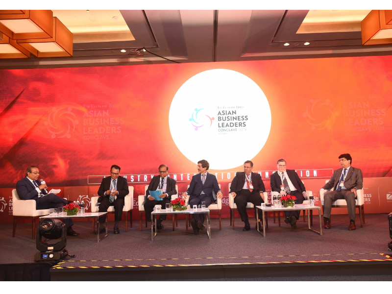 An_expert_panel_delved_into_the_economic_geopolitical_risks_shaping_Asias_business_landscape_at_The_Economic_Times_Asian_Business_Leaders_Conclave_held_in_Singapore