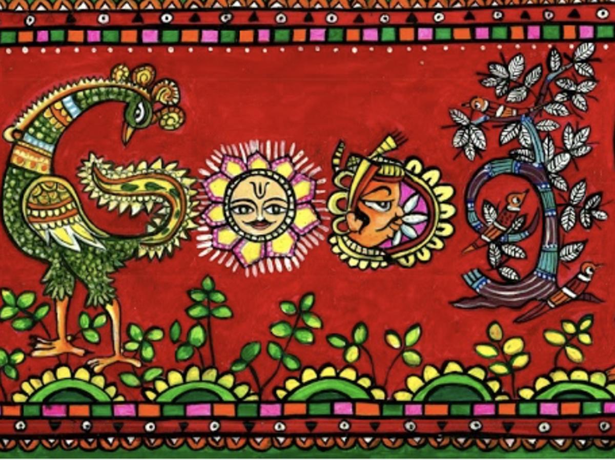 Sidagam Sai Sathvik's Doodle titled, 'Everlasting Impact -- Indian Folk Art'.