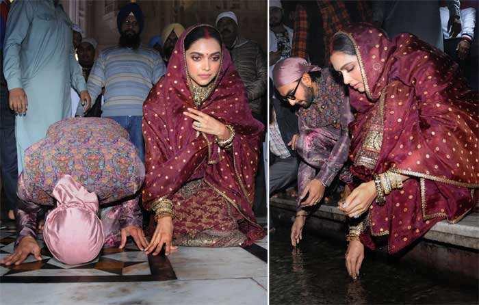 DeepVeer pay obeisance at Harmandir Sahib.
