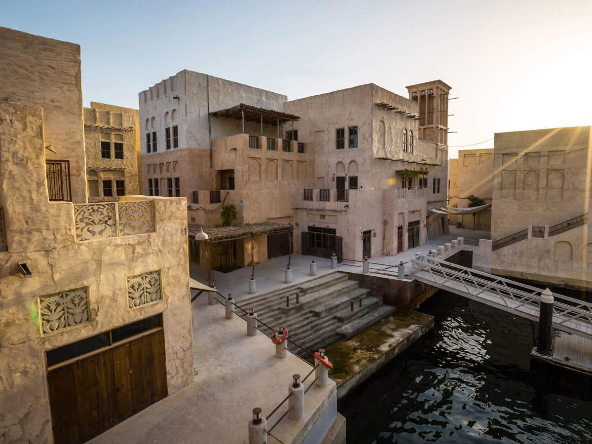 A classic Arabian-style building adjacent to Dubai Creek, Al Seef Heritage Hotel is a seven-minute walk from the pre-modern Al Fahidi Historical Neighborhood.