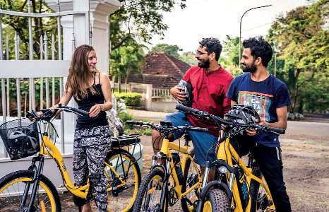 For ecologically-conscious ways of touring to stay fit, use e-cycles, which are now gaining popularity in Goa.