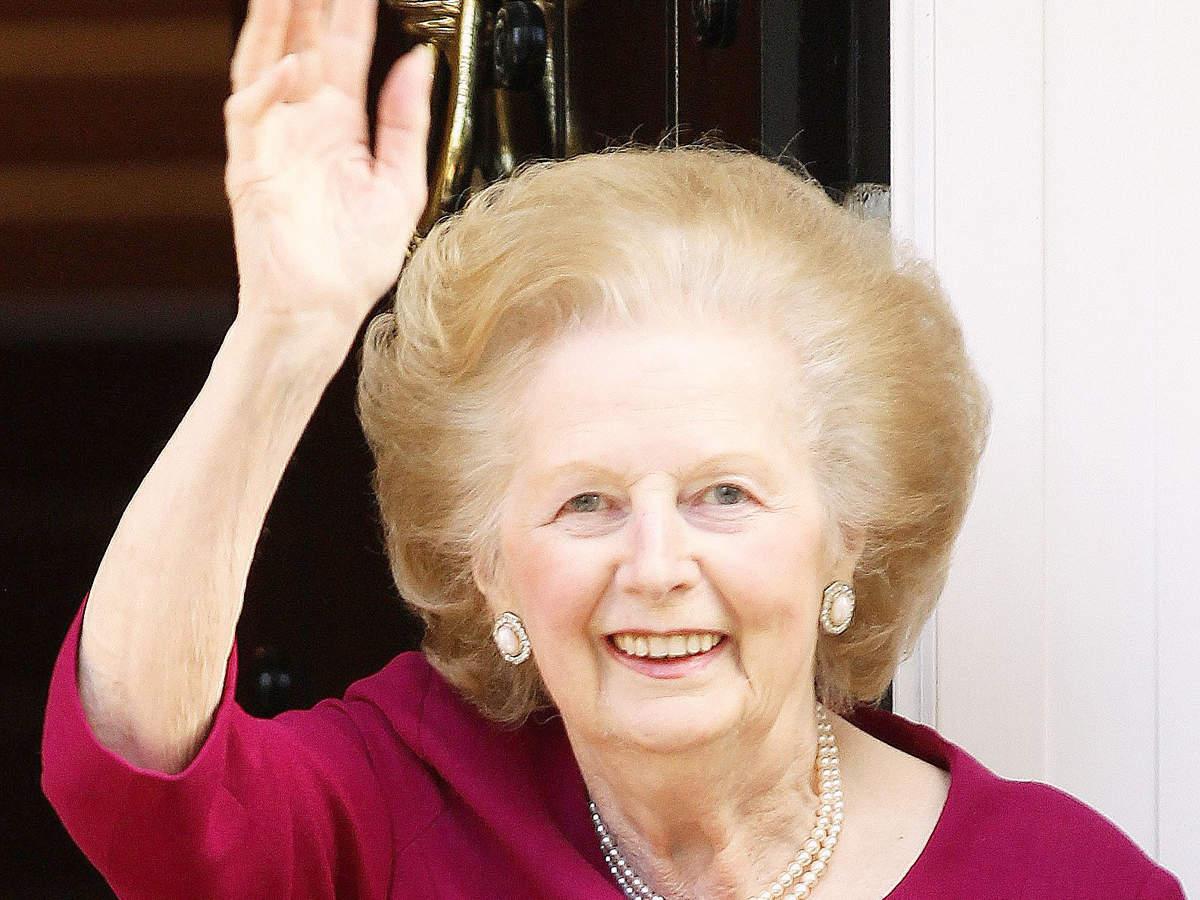 Margaret Thatcher visited British troops in the Falkland Islands.