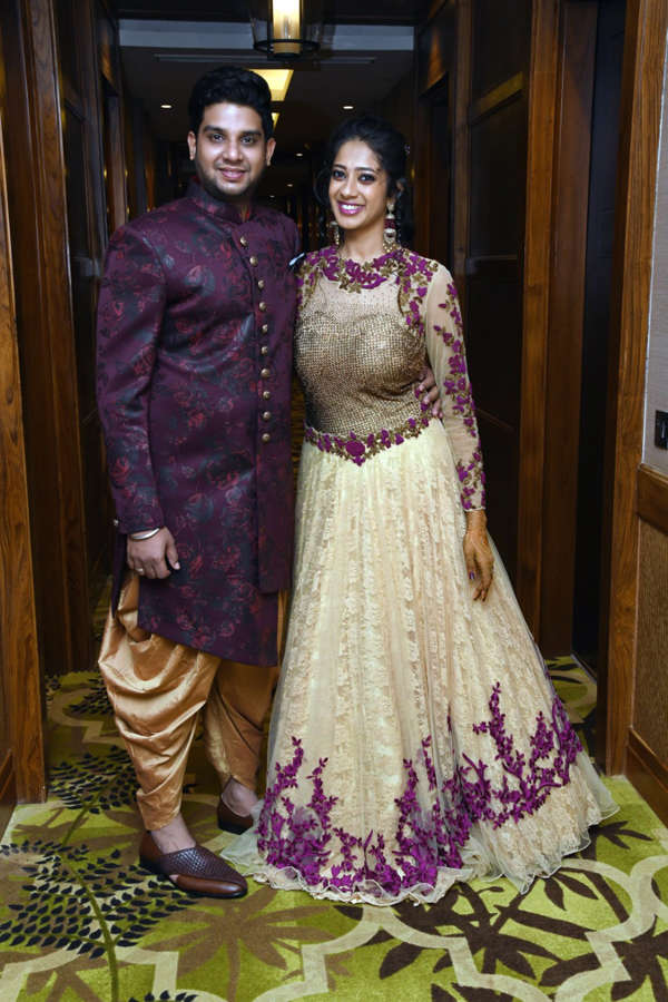 The wedding was an amalgamation of the traditional South Indian roots of Sridhar's family and the vivacious and fun spirit of the young couple.