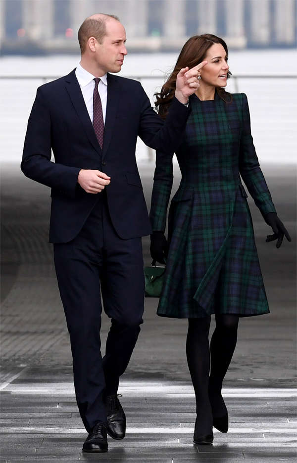 ​Prince William, Duke of Cambridge and Catherine, Duchess of Cambridge ​in Dundee, Scotland. ​