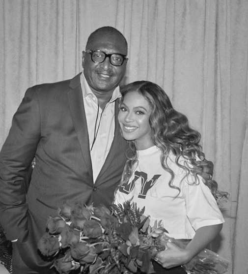 ​In October, Mathew Knowles (seen here with daughter Beyoncé) announced that he had been diagnosed with breast cancer​.
