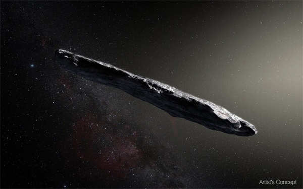 ​Two years ago, astronomers discovered an interstellar rock called Oumuamua cruising through the solar system. ​ (Image: solarsystem.nasa.gov/asteroids-comets-and-meteors/comets/oumuamua/in-depth/​)