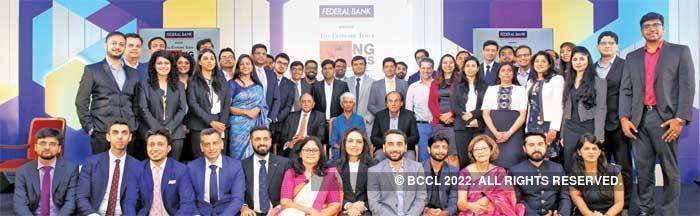 Winning streak: The Economic Times Young Leaders with the CEOs