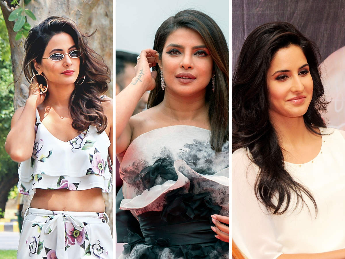 Hina Khan joined the list of sexiest Asian women of 2019; PeeCee and Katrina Kaif were on the decade chart. (In pic from left: Hina Khan, Priyanka Chopra, Katrina Kaif)